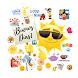 Stickers de buenos días