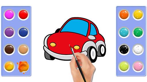 Car coloring : kids doodle drawing games for kids  screenshots 2