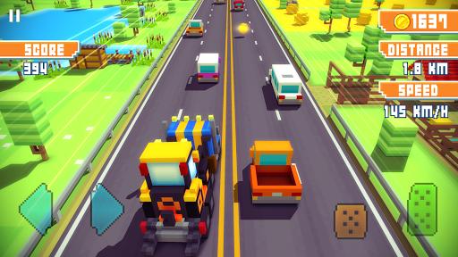 Blocky Highway: Traffic Racing  screenshots 4