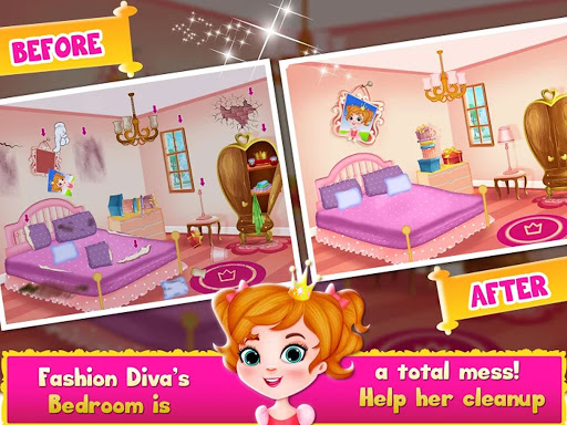 Cleaning games Kids - Clean Decor Mansion & Castle 8.1 screenshots 9