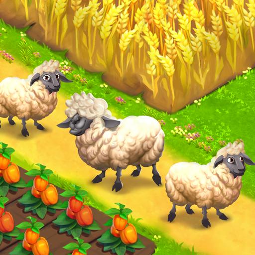 Baixar Happy Town Farm Games - Farming & City Building para Android