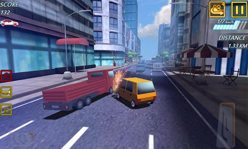 blocky highway roads racer 3d screenshot 3