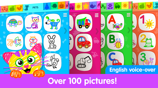 Toddler Drawing Academy! Coloring Games for Kids!  screenshots 1