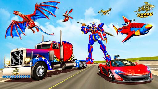 Real Shark Robot Car Game u2013 Police Truck Robot  screenshots 13