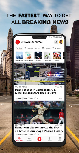 Breaking News : Local & Breaking News Near You android2mod screenshots 1