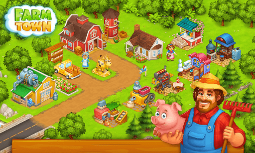 Farm Town: Happy village near small city and town  Screenshots 4