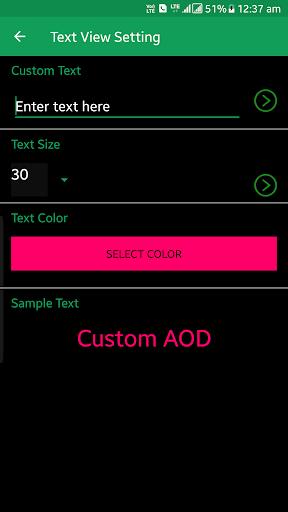 Custom AOD (Add images on Always On Display) 3.1.6 Beta Screenshots 4