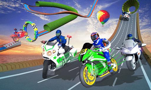 Police Bike Stunt GT Race Game Apkfinish screenshots 6