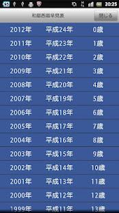 西暦 平成 22 年 年齢早見表|昭和28年生まれ