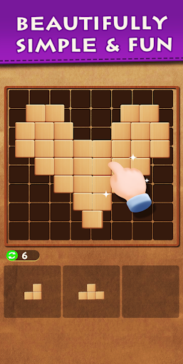 Wood Block Puzzle - Top Classic Free Puzzle Game 26 screenshots 4
