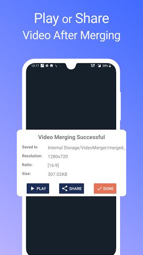 Video Merger, Joiner (MP4, 3GP, MKV,MOV, AVI) modavailable screenshots 7