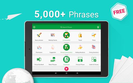 Speak German - 5000 Phrases & Sentences modavailable screenshots 9