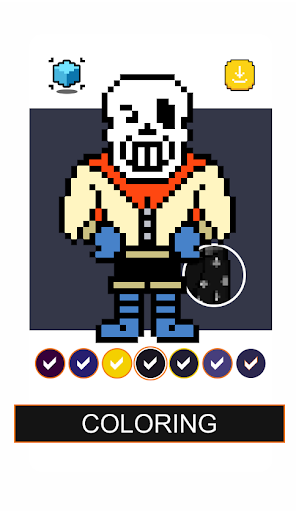 Papyrus Undertale Pixel Art Games Color By Number  screenshots 2