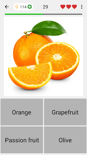 Fruit and Vegetables, Nuts & Berries: Picture-Quiz  screenshots 4