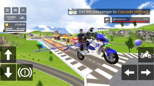 Flying Motorbike Simulator android2mod screenshots 21