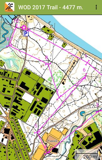 gps orienteering run screenshot 2