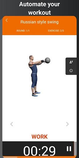Kettlebell workout for home BeStronger  screenshots 1