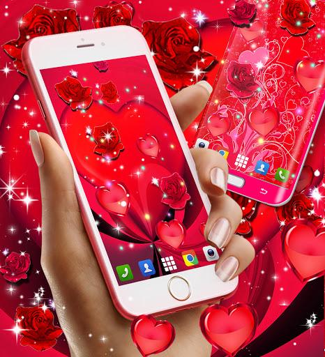 Red rose live wallpaper apktram screenshots 4
