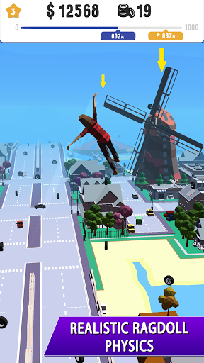 Stuntman: Ragdoll simulator games with trampoline  screenshots 1