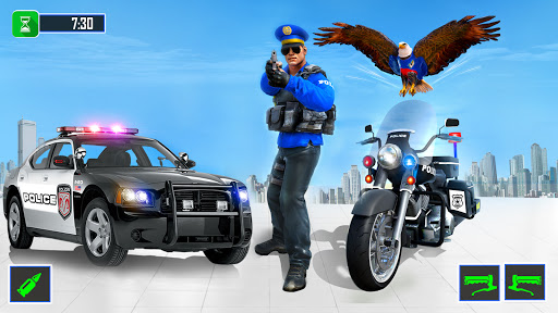 Flying Police Eagle Gangster Crime Shooting Game android2mod screenshots 2