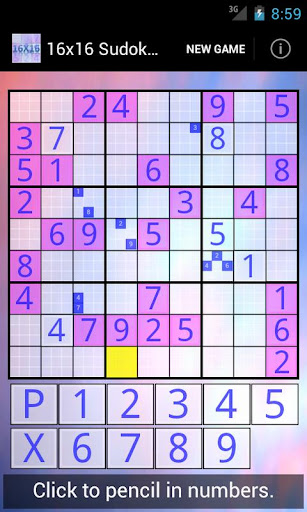 16x16 Sudoku Challenge HD 3.8.5 screenshots 2
