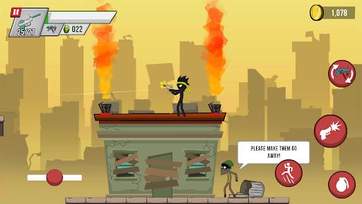 Stickman vs Zombies: stickman contre zombies APK MOD – Pièces Illimitées (Astuce) screenshots hack proof 2