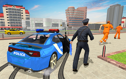 Drive Police Car Gangsters Chase : Free Games  screenshots 2