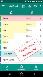 Food Checklist - Groceries Expiration and Shopping 0.9.41r2