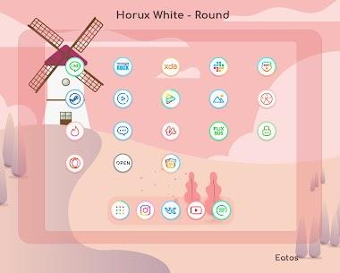 Horux White Apk- Round Icon Pack (Paid) 6
