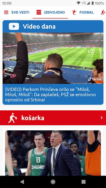 Sport Danas - Sve sportske vesti iz Srbije i sveta screenshot 1