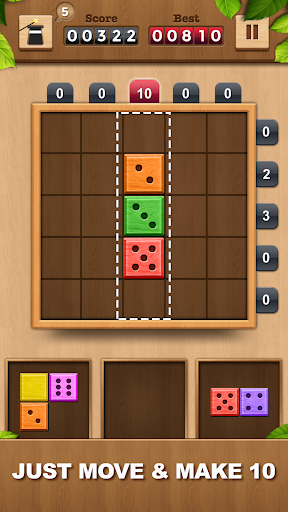 TENX - Wooden Number Puzzle Game  screenshots 1