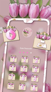 Pink Flower Gift Theme Launcher