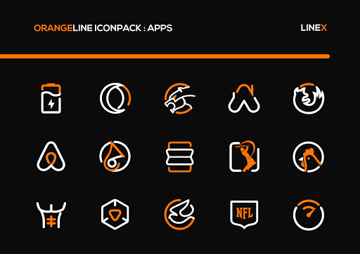 OrangeLine IconPack : LineX