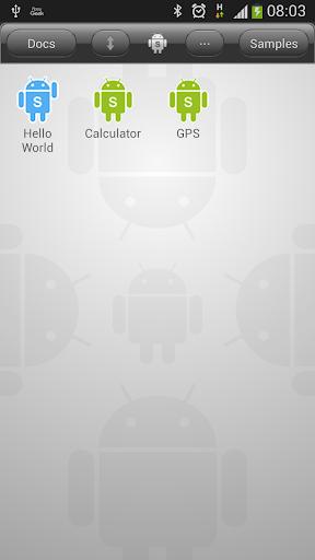 DroidScript - JavaScript Mobile Coding IDE screenshots 1
