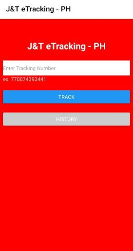 J&T eTracking - Philippines 1.0 Screenshots 1