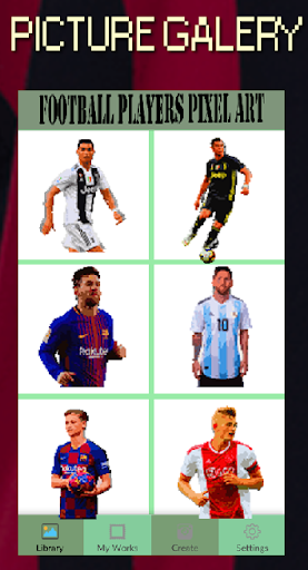 Code Triche Football Players Color By Number-Pixel Art 2021 (Astuce) APK MOD screenshots 1