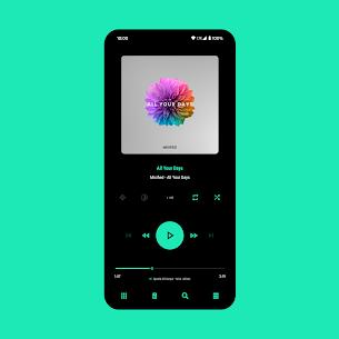 Aurora – Material Poweramp v3 Skin MOD (Paid) 1