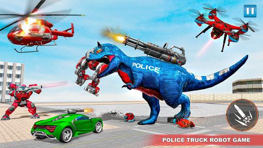 Police Truck Robot Game u2013 Dino Robot Car Games 3d  Screenshots 8