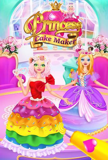 Rainbow Princess Cake Maker - Kids Cooking Games  screenshots 1