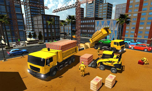 Supermarket Construction Games:Crane operator apktreat screenshots 1