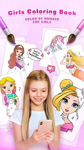 Girls Coloring Book – Color by Number for Girls 2.3.0.0 APK Mod Updated 1