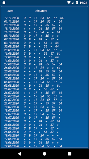 Keno FR combination statistics  screenshots 5