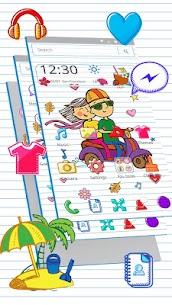 Summer Vacation Doodle Theme For Pc – Download For Windows 10, 8, 7, Mac 2
