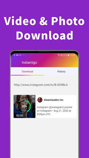 Video downloader for Instagram, Story saver apktram screenshots 2