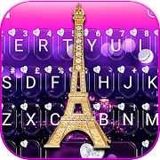 Romantic Paris Night Keyboard Theme