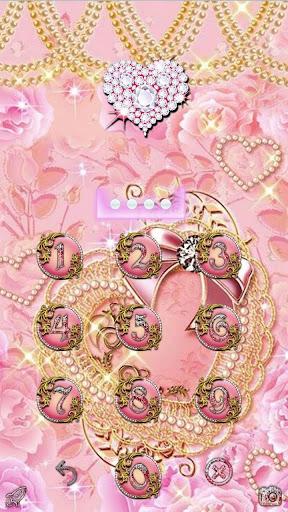 Pink Gold Diamond Live Theme  APK screenshots 4