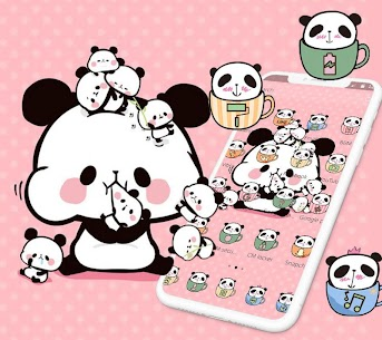 Pink Cartoon Cute Panda Theme 1.1.5 Mod APK Latest Version 2