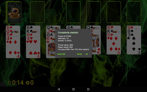 Spider Solitaire (Web rules)  screenshots 15
