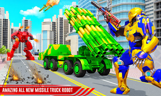 US Army Robot Missile Attack: Truck Robot Games  screenshots 1