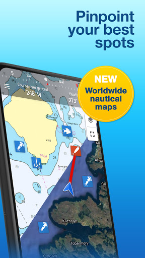 Fishing Points: GPS, Tides & Fishing Forecast modavailable screenshots 3